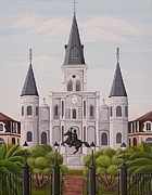 Louis Paintings - Five Fifteen in New Orleans by Valerie Chiasson-Carpenter