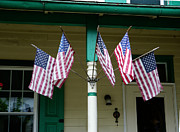 50 Stars Posters - Five Flags on the Porch Poster by Richard Reeve
