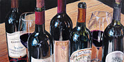 Winery Paintings - Five for Two by Larry  Womack