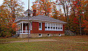 Old Schoolhouses Prints - Five Mile Creek in Autumn Print by Rachel Cohen