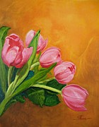 Theon Guillory - Five Pink Tulips