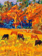 Thomas Bertram POOLE - Five Texas Cows At...