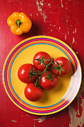 Garry Gay - Five tomatoes on plate