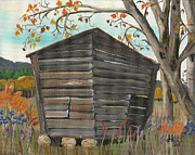 Shed Painting Prints - Fixer Upper Print by Jan Dappen