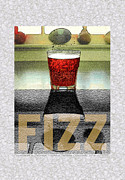 Living Room Digital Art Posters - FIZZ Word 1 from Wordsmith Series Poster by Yolanda Fundora