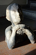 Earth Sculpture Prints - Flabbergasted Young Man  Print by Reiner Poser