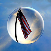 Low Angle View Originals - Flag In a Bubble by Amyn Nasser