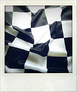 Auto Racing Prints - Flag Print by Les Cunliffe