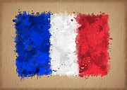 Waving Flag Digital Art - Flag of France painted with watercolors by Baranov Viacheslav