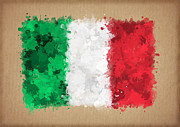 Waving Flag Digital Art - Flag of Italy painted with watercolors by Baranov Viacheslav