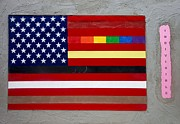 American Flag Mixed Media - Flag of Many Colors by Vincent  Blumit