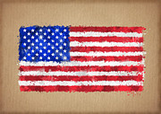 Waving Flag Digital Art - Flag of United States painted with watercolors by Baranov Viacheslav
