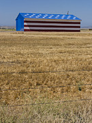 Symbolize Posters - Flag Painted Barn Poster by David Litschel