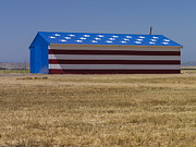 Symbolize Posters - Flag Painted on Barn Poster by David Litschel