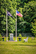 Greatest Generation Photo Prints - Flags and Memorial Print by Bob and Nancy Kendrick