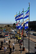 Bay Bridge Prints - Flags At Pier 39 San Francisco California 5D26042 Print by Wingsdomain Art and Photography