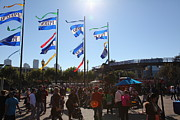 Entrances Prints - Flags At Pier 39 San Francisco California 5D26136 Print by Wingsdomain Art and Photography