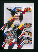 Flags Paintings - Flags Of The Americas by Charles Stuart