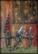 Confederate Flag Digital Art Prints - Flags of the Confederacy Print by Randy Steele