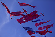Turkey Metal Prints - Flags of Turkey Metal Print by Raimond Klavins