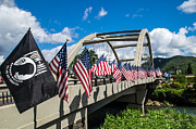 Mick Anderson - Flags on the Rogue River Bridge