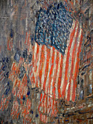 Old Glory Paintings - Flags on the Waldorf by Nomad Art And  Design