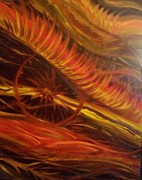 Adriana J Garces Paintings - Flame Run by Adriana Garces