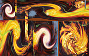 Anne Cameron Cutri Metal Prints - Flame Tricks Metal Print by Anne Cameron Cutri