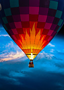 Hot Air Balloon Posters - Flame with Flame Poster by Bob Orsillo