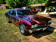454 Photos - Flamed 70 Chevy Malibu 001 by Lance Vaughn