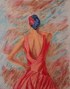 Dancer Pastels Originals - Flamencio Dancer by Lee Ann Newsom