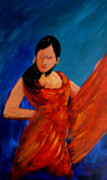 Dancing Girl Paintings - Flamenco by Anthony Dunphy