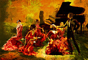 Flamenco Dancer 020 Print by Catf