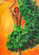 Sheri  Chakamian - Flamenco dancer in green...