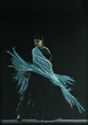 Dancer Pastels Originals - Flamenco dancer in shawl by Martin Howard