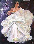 Sylva Zalmanson - Flamenco dancer white