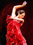 Hand Painted Digital Art - Flamenco by James Shepherd