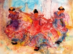 Dancer Art Metal Prints - Flamenco Metal Print by John YATO