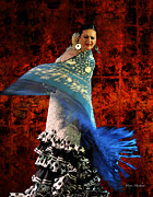 Flamenco Digital Art Prints - Flamenco Series #4 Print by Mary Machare