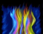 William  Paul Marlette Framed Prints - Flames Of Color Framed Print by William  Paul Marlette