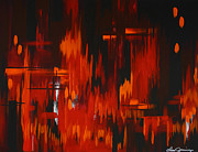 Oppression Painting Originals - Flames of Passion by Danise Abbott