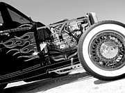 T Bucket Rat Rod Posters - Flames of Yesterday Poster by Kip Krause