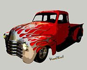 Chas Sinklier - Flaming 50 Chevy Pickup