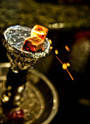 Shanna Gillette Prints - Flaming Hookah Print by Shanna Gillette