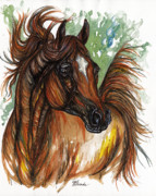 Ginger Drawings Posters - Flaming Horse Poster by Angel  Tarantella