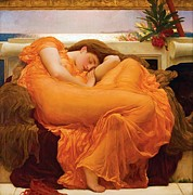 Leighton Paintings - Flaming June by Pg Reproductions