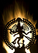 Sacred Metal Prints - Flaming Natarja Metal Print by Tim Gainey