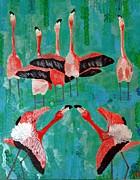 Flamingo 3 Print by Vicky Tarcau