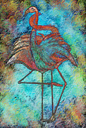 African Bird Framed Prints - Flamingo Love Framed Print by Sydne Archambault