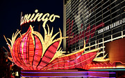 Las Vegas Artist Prints - Flamingo Night Print by John Rizzuto